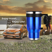 Valoxin(TM)12V Stainless Steel Universal Auto Car Electric Travel Heated Hot Thermos Cup Mug With Car Charger