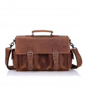 Gendi Mens Real Leather Laptop Briefcase Bag Satchel Shoulder Messenger Bags