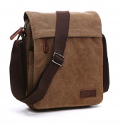 Outreo Retro Crossbody Bag Men Shoulder Messenger Bag Vintage Cross Body Bag for School Bookbag Travel Bike Side Pack