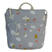 RADLEY 'Granary Square' Pale Grey Oilskin Backpack - RRP £89