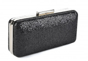 Black Slimline Hardcase Evening Clutch Bag