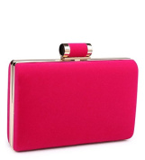 Womens Ladies Faux Suede Hard Case Box Prom Party Evening Dressy Occasion Hand Clutch Bags - A43