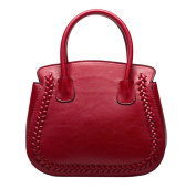 Yan Show Women's Lichee Pattern Handbag Leather Shell Package /Red