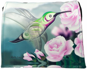 Shagwear Women's Cross-Body Bag Kolibri mit Rose/ Hummingbird with Rose