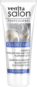 Venita Salon Professional Colour Care Shampoo for Blonde and Grey Hair - Platinum Glow