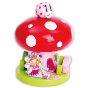 Fairy Tale Toadstool Wooden Music Box Ornament - Kids Musical Box Plays Love Story - Lucy Locket
