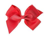Poplico Clip Grosgrain Bow, Red