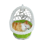 Drasawee Super Cute Kids Stuffed Simulation Animal Doll Hanging Basket Cat Toy With Sound 5#