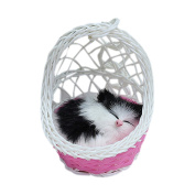 Drasawee Super Cute Kids Stuffed Simulation Animal Doll Hanging Basket Cat Toy With Sound 2#