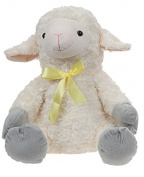"Plush toy ""Sheep"" with satin bow (13""/35cm) - Quality Super Soft"
