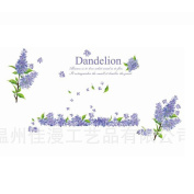 Winhappyhome Romantic Lavender Wall Art Stickers for Bedroom Living Room Coffee Shop Background Removable Decor Decals