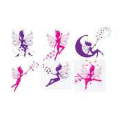Winhappyhome Fairies Wall Art Stickers for Bedroom Living Room Coffee Shop Background Removable Decor Decals