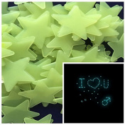 Supply EU 200PCS Home Wall Glow In The Dark Stars Stickers Decal Baby Kid's Nursery Room - DIY Wall Decal - Light Green - Plastic Luminous Wall Stickers Bedroom Decoration
