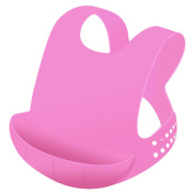 Ailams Waterproof Baby Bib,Food Grade Silicone BPA Free FDA Approved,Stain Resistant and Easily Wipes Clean after Meals