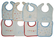 Bib Soft Combed Cotton, Pack of 8 Units Hook and loop Closure