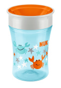 NUK Magic 360° 250ml Cup 8mths+ Orange Crab