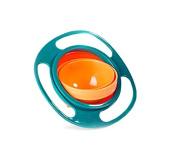 Liroyal Non Spill Feeding Toddler Gyro Bowl 360 Rotating Kids Avoid Food Spilling