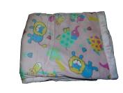 Cosy Fleece Mink Safari Baby Blanket, Pink