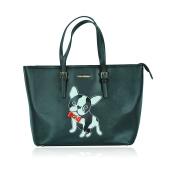 Claudia & Jason® Genuine Large Boston Terrier/French Bulldog Design Tote Bag