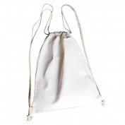ECYC Outdoor Sports Shopping Canvas Backpack School Travel Drawstring Tote Bags,White
