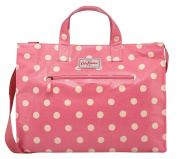 Cath Kidston New Oilcloth Button Spot Open Carry All With Strap In Pink