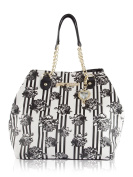 Betsey Johnson Snap Trap Tote With Pouch Shoulder Bag - Floral