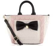 Betsey Johnson Large Quilted Bow Tote Bag - Blush