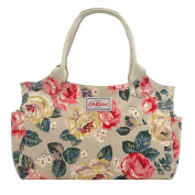 Cath Kidston New Oilcloth Forest Rose Day Bag In Taupe