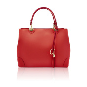 CRISTINA Tote bag with pendant smooth leather Made in Italy