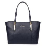 BOSTANTEN Leather Handbags Designer Shopper Tote Shoulder Bags for Women Navy Blue