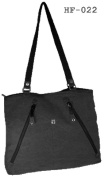 Hf022 Khaki + Hemp Shopper Black 42 cm Pure Cannabis