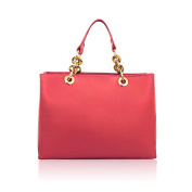 REBECCA Handbag Tote with leather accessory handles Saffiano leather Made in Italy
