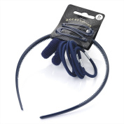 Eleven piece navy colour headband, snap clip, ponio and elastic hair accessories set.