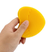 Brush Egg Cleaner,Saingace Silicone Fashion Egg Cleaning Glove Makeup Washing Brush Scrubber Tool Cleaners