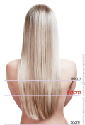 Clip In Extensions 100% Real Hair Extensions 40cm-70cm - 7 Parts