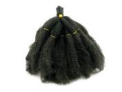 Elysee Star Afro Kinky Bulk Loose Synthetic Hair 60cm #1B Off Black