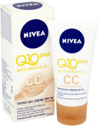 Nivea Q10 Plus SPF15 Anti-Wrinkle CC Tinted Day Face Cream, 50 ml, Pack of 3