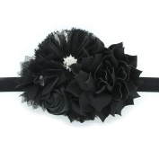 My Lello Girls Shabby Fabric Flower Cluster Headband