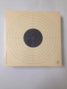 Packed in 100 pieces - Target for air pistol 10 m. - Size 17 by 17 Cm., ISSF. Made cardboard first Quality Paper Col 200 grs., Anti-reflective