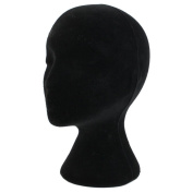 Female Styrofoam Foam Mannequin Head Model Wigs Glasses Hat Display Stand Black