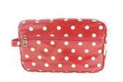 Red Dotty Large Wash Bag Travel Bag Cosmetic Bag Weekend Bag