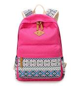 EchoFun Casual Dot Bohemia Print School Canvas Backpacks Lightweight National Book Bags for High school Students Teens Rucksacks Schoolbags