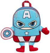 Captain America Plush Fleece Front Backpack