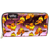Pokemon Eevee Shiny Pink Zip Around Clutch Purse