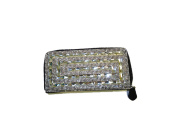 Claudia & Jason® Silver Crystal Diamante Ladies Party Evening Wedding Clutch Hand Bag Pouch Purse