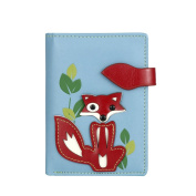 MENKAI RFID purse wallet drawing fox 666-C2 Grey Blue