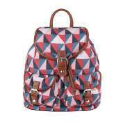MENKAI Backpack Multicolor front pockets 903001 Grey