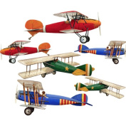 Primary Biplane Aeroplane Wall Sticker Decal Large Sheet