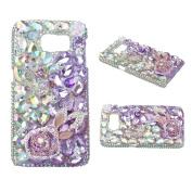 S5 Case,Samsung Galaxy S5 Case - EVTECH 3D Handmade Bling Crytal Luxury Full Diamond with Shiny Sparkly Glitter Diamond Rhinestone Hard Back Case Black Cover for Samsung Galaxy S5 I9600 SM-G901