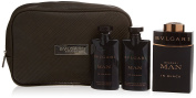 LOT MAN IN BLACK BULGARI  Eau De Parfum   100ML + SHOWER GEL 75ML + AFTER SHAVE BALM 75ML + POUCH